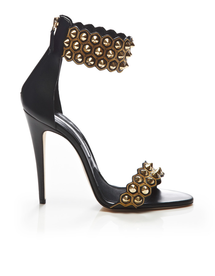 Brian Atwood Abel Studded Leather Sandals