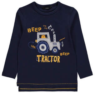 George Navy Tractor Long Sleeved Top
