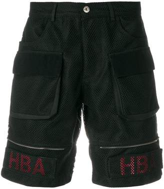 Hood by Air mesh cargo shorts
