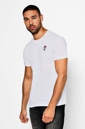 boohoo Eternity Rose Embroidered T-Shirt