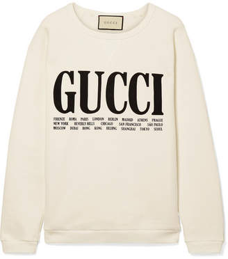 727885336bf Gucci Oversized Printed Cotton-terry Sweatshirt - Off-white