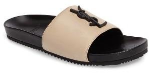 Women's Saint Laurent Joan Slide Sandal $495 thestylecure.com