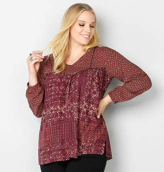 Avenue Twin Print Pullover Babydoll Tunic