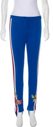 Gucci 2017 Embroidered Mid-Rise Stirrup Leggings w/ Tags Blue 2017 Embroidered Mid-Rise Stirrup Leggings w/ Tags