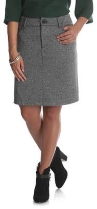 Lee Riders Women's Ponte Knit Comfort Waist Skirt