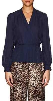 L'Agence Women's Cara Silk Wrap Blouse