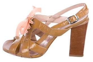 Marc by Marc Jacobs Patent Leather Ankle Strap Sandals