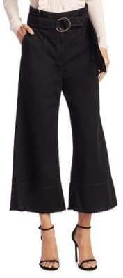 Cinq à Sept Serge Twill Wide-Leg Cotton Pants