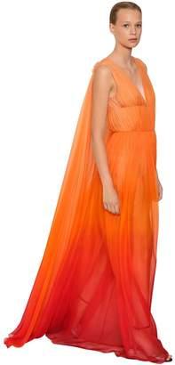 Alberta Ferretti Silk Chiffon Long Dress