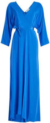 Diane von Furstenberg Floor Length Silk Wrap Dress