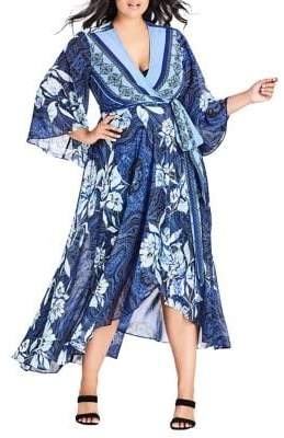City Chic Plus Illusion Maxi Dress