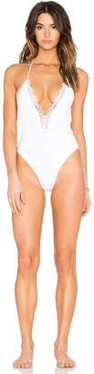 Blue Life Mirage Halter One Piece Swimsuit in Blue $154 thestylecure.com
