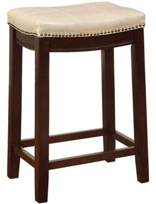 Linon Claridge Backless Counter Stool, 24 inch Seat Height, Multiple Colors