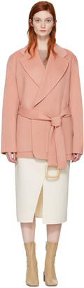 Acne Studios Pink Lilo Doublé Belted Coat