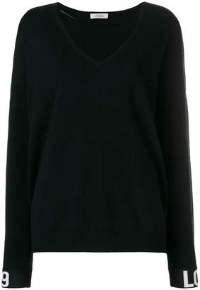 Schumacher Dorothee contrast-cuff fitted sweater