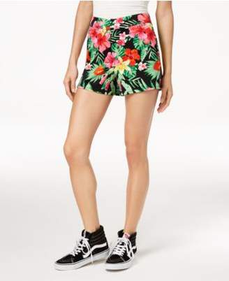 Macy's The Edit By Seventeen Juniors' Floral-Print High-Waist Shorts, Created for