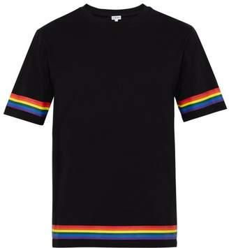 Loewe Rainbow Logo Print T Shirt - Mens - Black