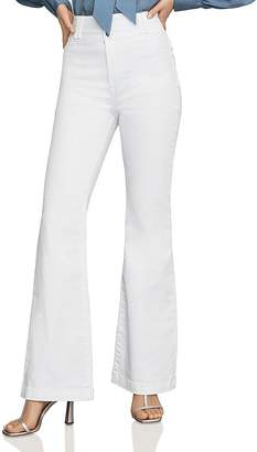 defbaf629a7f BCBGMAXAZRIA High-Rise Flared Jeans in Optic White