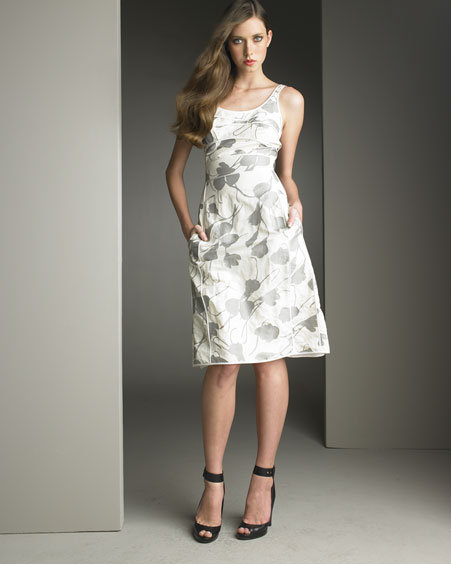 Narciso Rodriguez Piped Floral Dress