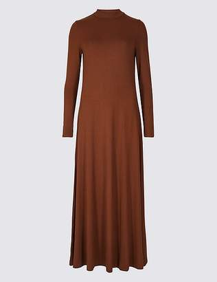 Marks and Spencer Jersey Turtle Neck Tunic Maxi Dress