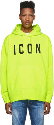 DSQUARED2 Yellow Dyed Icon Hoodie