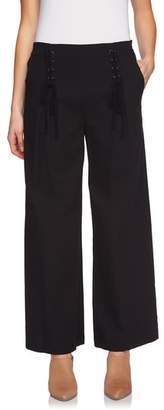 1 STATE 1.STATE Lace-Up Detail Wide Leg Pants
