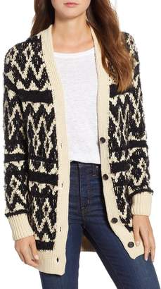Lucky Brand Diamond Fair Isle Cardigan