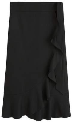 MANGO Ruffled wrap skirt