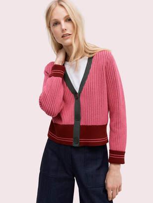 Kate Spade contrast rib cardigan