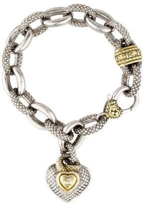 Judith Ripka Diamond Heart Charm Bracelet