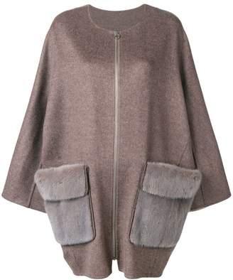 Liska mink fur pocket coat