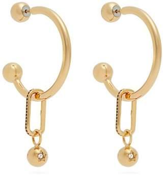 Burberry Hoop and crystal-embellished pendant earrings