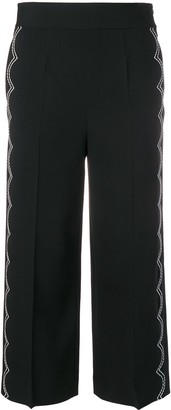 RED Valentino scallop stitch cropped trousers
