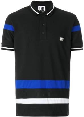 Les Hommes Urban stripe detail polo shirt