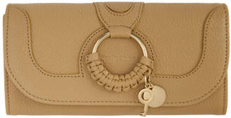 See by Chloe Beige Large Hana Continental Wallet