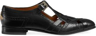 Gucci Leather brogue shoe with cut-out detail