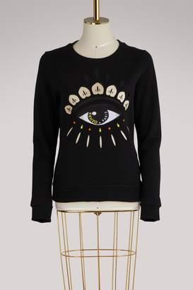Kenzo Eye embroidered cotton sweatshirt