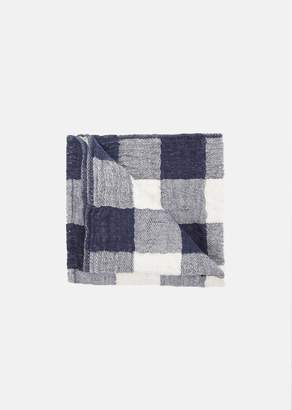 MORIHATA Small Vintage Check Washcloth Navy