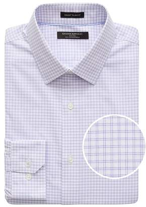 Banana Republic Grant Slim-Fit Non-Iron Grid Dress Shirt