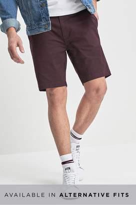 9e7329559b2bbd Next Mens Burgundy Skinny Fit Smart Stretch Chino Shorts - Red