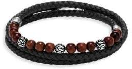 John Hardy Leather & Silver Bracelet