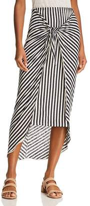 Splendid x Margherita Tie-Front Striped Sarong Skirt