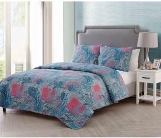 Vcny Home VCNY Home Ava 3-Piece Pinsonic Reversible Quilt Set, Multicolored, Multiple Sizes Available