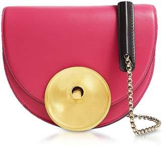 Marni Misty Rose Black And Acid Leather Monile Crossbody Bag