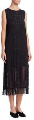 Pleats Please Issey Miyake Knit and Lace Dress