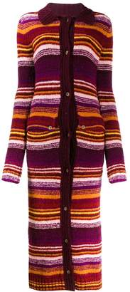 House of Holland striped cardi-coat