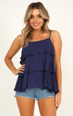 Showpo Desert Dusk top in navy - 8 (S) Sale Tops