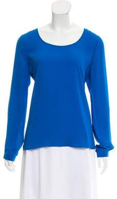 Barneys New York Barney's New York Long Sleeve Scoop Neck Top