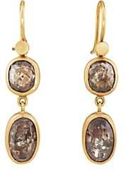 Eli Halili Women's Champagne-Diamond Double-Drop Earrings