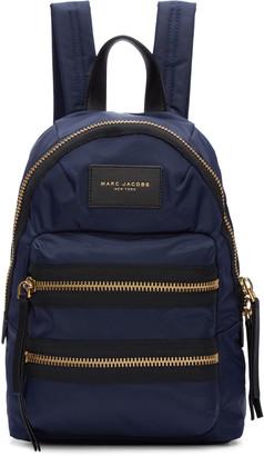 Marc Jacobs Navy Mini Biker Backpack $175 thestylecure.com